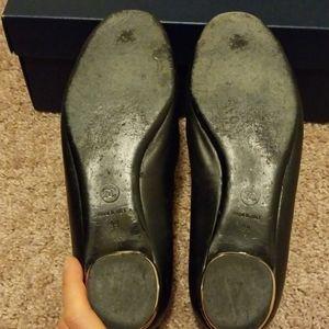 CHANEL Shoes - CHANEL black Camellia flower flats size 39